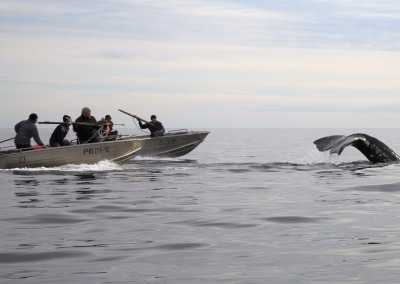 Whale hunters in the Bering Strait, Chukotka